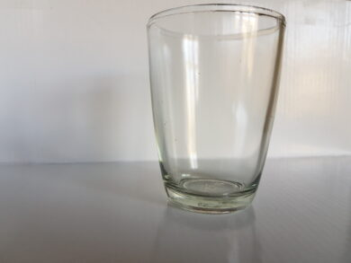 """Sklenice """"Kremžský kříštál"""" retro  -originál stará sklenice od hořčice 0,2 l"""