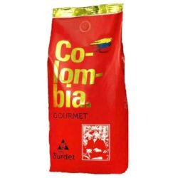 Colombia GOURMET  1 kg  Café de Colombia Excelso-Colombia Gourmet : 100% Arabica, Excelso káva z Kolumbie přímo z centrálni oblasti pěstování kávy z departmánu Quindio, z rodinné finky La Esperanza v obci Quimbaya, ve výšce v 1400 m nad  mořem  - nad Tichým oceánem. Zdejší hnědá půda je optimální pro pěstování kávy. Sklízí se ručně, zrnko poo zrnku nejlepší káva na světě, je nepřekonatelná v gourmet poměru kyselosti těla, výrazné aroma.